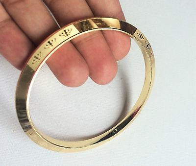 Laser Khanda Engraved Silver & Gold Plated Sikh Singh Khalsa Chakri Kara Bangle