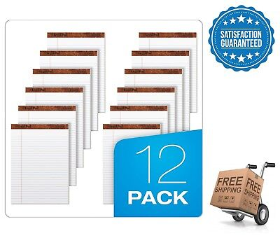 Tops 12-pack Legal Rule Writing Pads 5 X 8 50 Sheets Office Paper