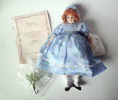"""PAULINE'S LIMITED EDITION PORCELAIN DOLL """"TARYN"""" 12"""" beautiful details"""