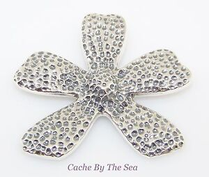 S1101 Retired Silpada Sterling 925 Silver Textured Flower Floral Pendant Artisan