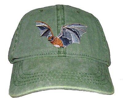 Little Brown Bat Embroidered Cotton Cap NEW Wildlife Myotis