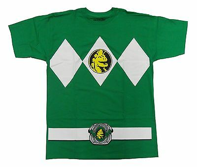 Authentic Power Rangers Green Ranger Costume Adult T-shirt Tee NEW