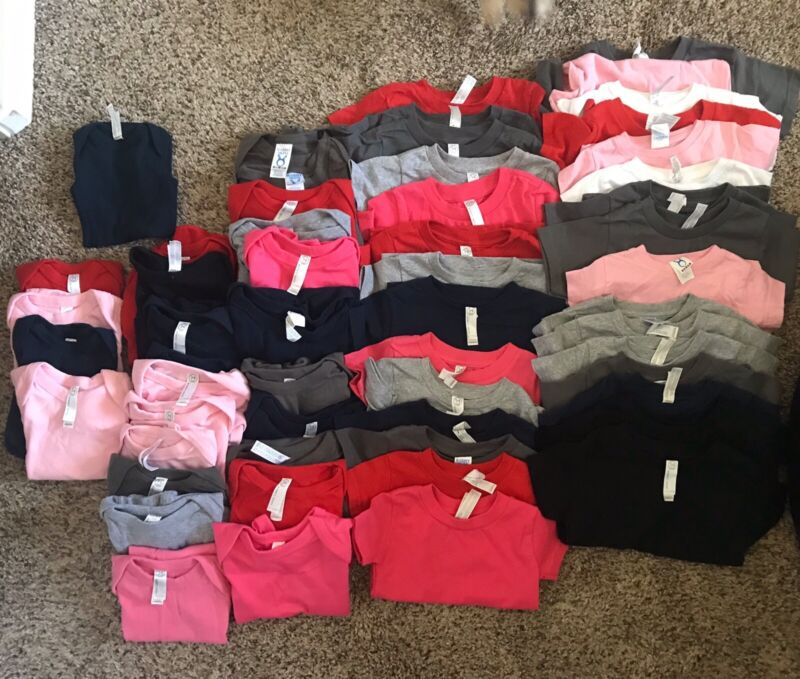 LOT OF 56 INFANT/TODDLER ONE PIECE AND T-SHIRTS