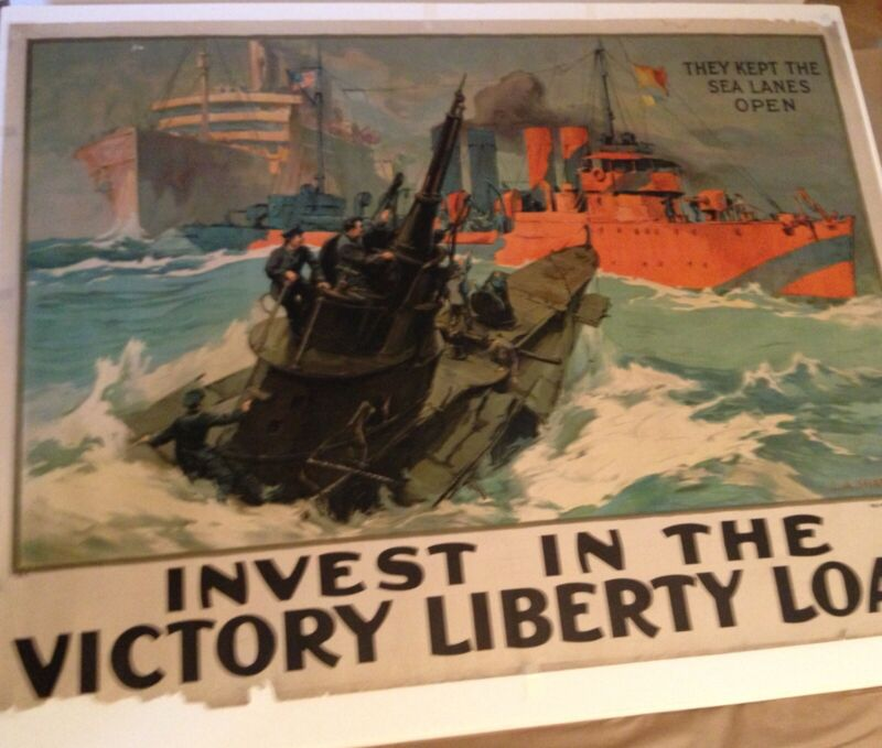 WW1 Original 102 Yr Poster  Invest In The Victory Loan By L A Shafer 1918
