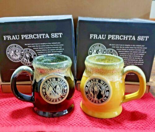 Death Wish Coffee Frau Perchta Mug Set Good/Bad Witch Sold Out