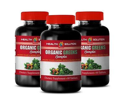 digestion herbs - ORGANIC GREENS PREMIUM COMPLEX - garlic supplement 3B