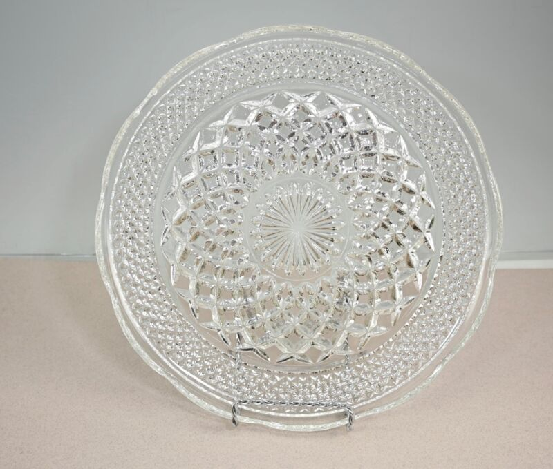 Vintage Anchor Hocking Wexford Glass Dinner Plates Lot Of 4