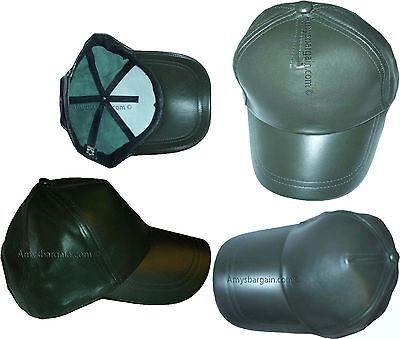 Lot of 4 New leather Baseball caps Green leather cap Head wear fashion hat BNWT