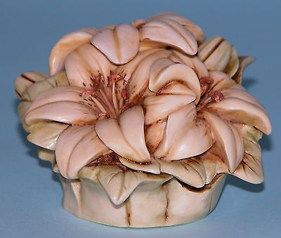 """Harmony Kingdom Garden box HG6LI """"Wedding Lily"""" ladybug Lord Byron NIB 2002-2004"""