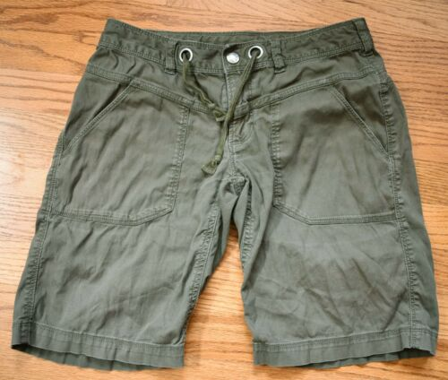 THE NORTH FACE Hiking Shorts Womens Size 2 Medium M Olive Green Outdoor Casual