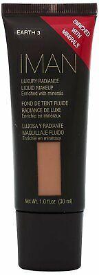 2 Pack of IIman Cosmetics Luxury Radiance Liquid Makeup, Earth 3