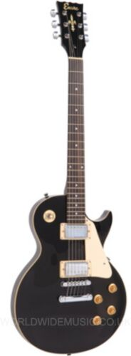 Encore E99 BLK Les Paul Electric Guitar Package - Gloss Black Finish