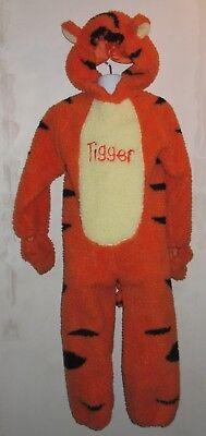 THE DISNEY STORE TIGGER PLUSH CHILD'S HALLOWEEN COSTUME 4-6T REAR FULL ZIPPER (Disney Store Tigger Costume)