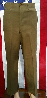 WW2 US Army 1942 dated OD Wool Trousers Pants 32x29