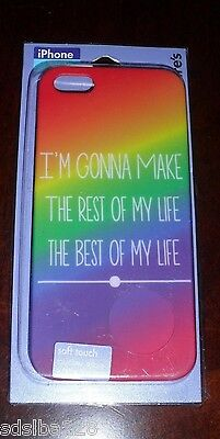 NEW iPhone 5 5S best of my life rest soft touch hard snap on case rainbow (Best Case 5s)