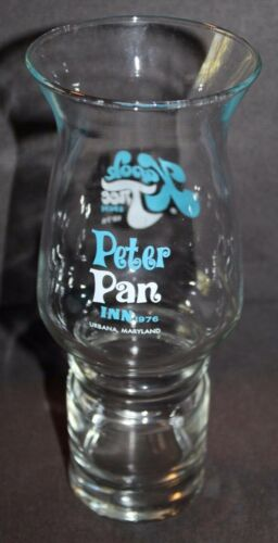 Vintage 1976 SOUVENIR Glass Vase PETER PAN INN Maryland