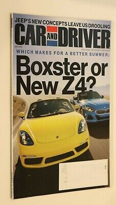 CAR AND DRIVER MAGAZINE JUNE 2019 NEW PORSCHE 718 BOXSTER OR NEW BMW Z4? Car And Driver Bmw Z4