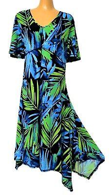 TS dress TAKING SHAPE plus sz XXS (12) Leaf Print Dress stretch comfy NWT!