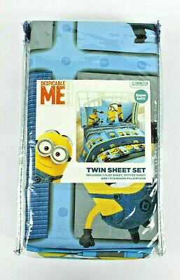 Minion Sheet Set (Despicable Me Minions Twin 3 pc Sheet Set  New Kids Boy Girl Retails)