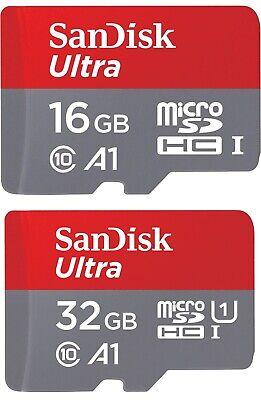 SanDisk Ultra 16GB oder 32GB micro SD Karte SDHC Cl10 UHS-I 98MB/s Speicherkarte (Sandisk Ultra 16 Gb Sdhc)