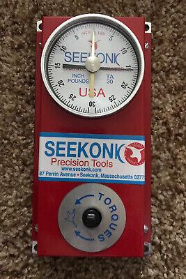 Seekonk Precision Tools Ta-30 Torque Tester Analyzer
