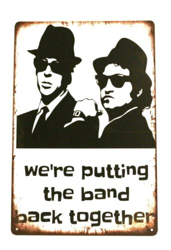 Blues Brothers Tin Sign Man Cave Concert Poster Putting The Band Back Together