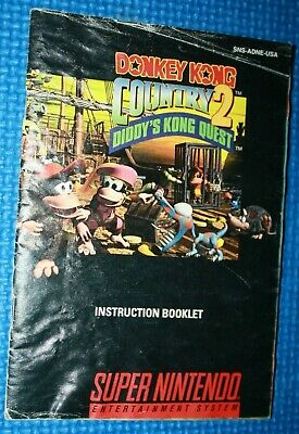 SNES Manual: Donkey Kong Country 2 Diddy's Kong Quest