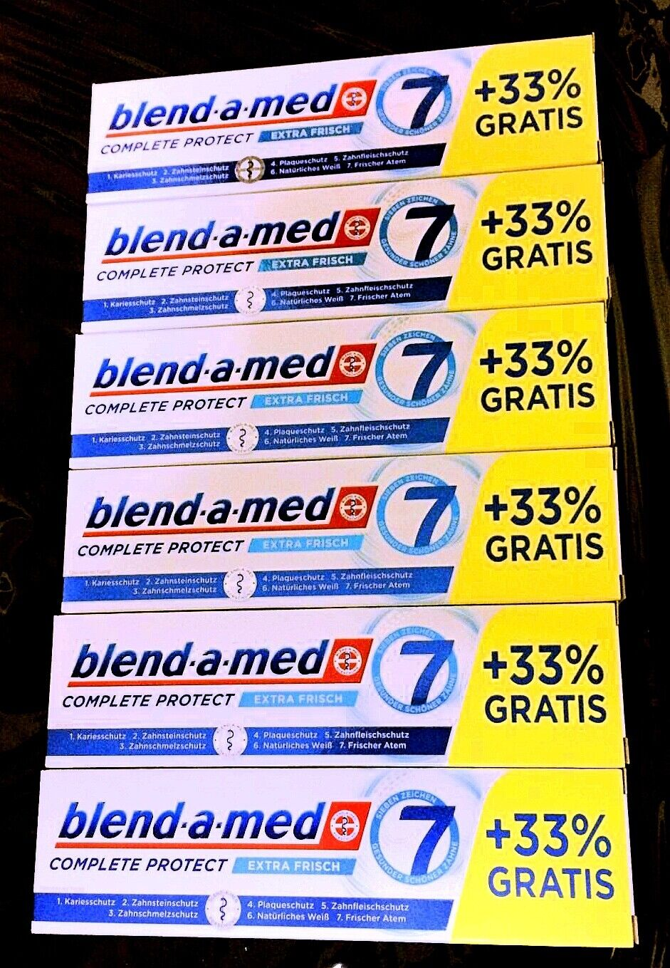 6x blend-a-med Complete Protect 7 Extra Frisch Zahncreme , 6x100ml