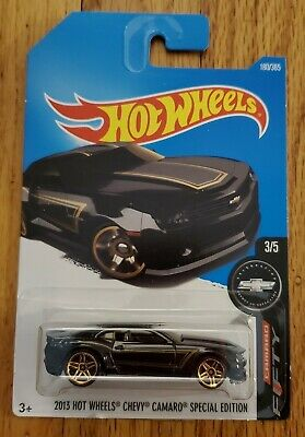 Hot Wheels 3/5 Camaro Fifty 2013 CHEVY CAMARO SPECIAL EDITION Black NEW on card
