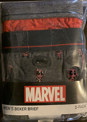 Marvel Deadpool Mens Boxers Brief: XL Ultra Soft Fabric 2 Pack