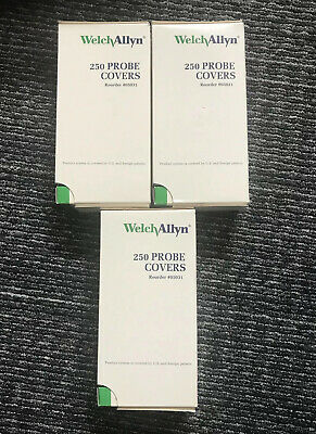 3 Welch-allyn 250 Pack Disposable Thermometer Probe Covers Suretemp Plus 05031