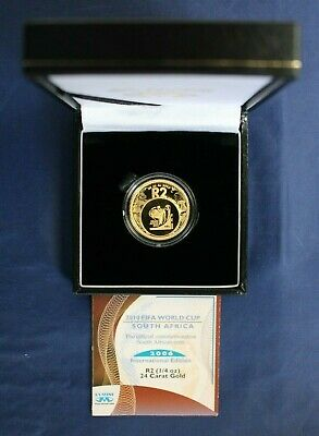 2006 South Africa Gold Proof 1/4oz coin