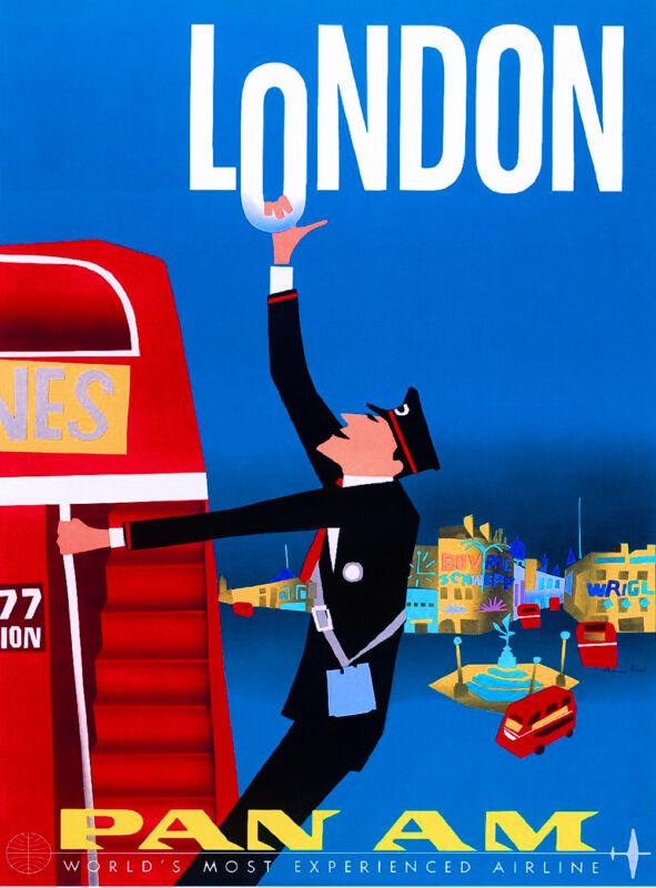 London England  Europe European Scandinavia Travel Advertisement Art Poster