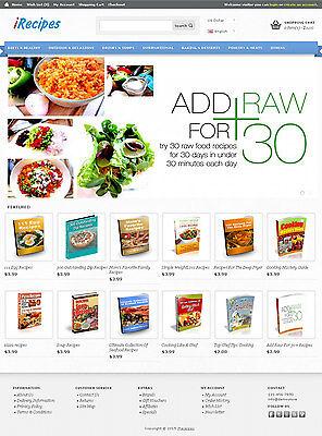 Recipes Ebook Store Website For Sale   50  Ebooks Preloaded