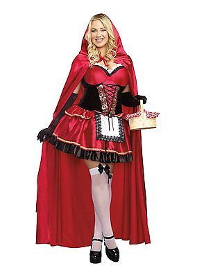 Sexy Little Red Riding Hood Dress Adult Women Costume Plus Size