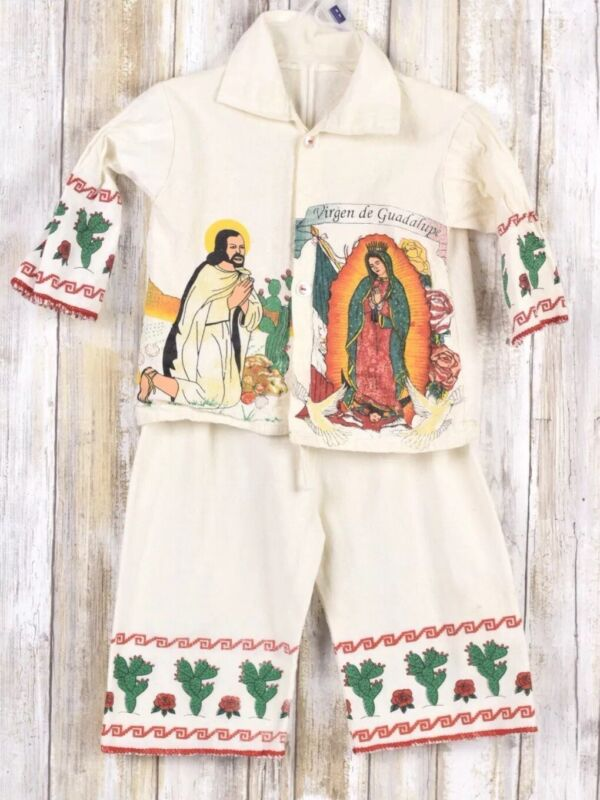 Virgen De Guadalupe Kids Outfit 2 Piece Unisex No Size