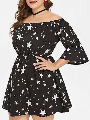 en Rockabilly Pin-up schulterfrei Gothic Dress Gr. M/L (Dress Up Sterne)
