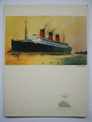 """RMS Queen Mary, 1930's, Luncheon Menu April 7th 1938, """"Berengaria""""."""