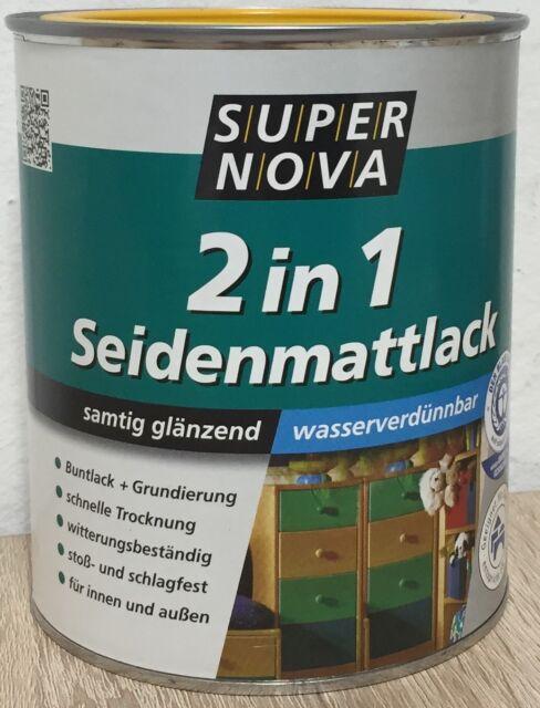 EF SUPER NOVA SEIDENMATTLACK, 16,27€/L, 750 ml Buntlack SEIDENMATT 2 in 1 Lack