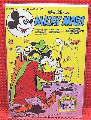 Walt Disney® Micky Maus Nr 41 von 1978 mit Schnipp und Beilage