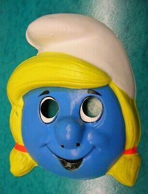 Vintage Ben Cooper Smurfette Halloween Costume & Mask w/ Box