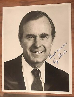 "George H W Bush Signed 8x10 Inscribed ""Best Wishes"" JSA President Auto HW (George Bush Best President)"