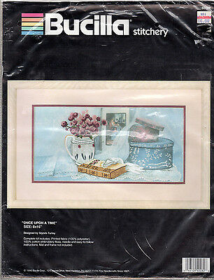 "1990 Bucilla Stitchery Embroidery Kit # 40282 ''Once Upon a Time"" 8"" x 16"""