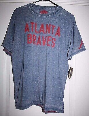 Atlanta Braves T Shirt Genuine Baseball MLB Merchandise By Red Jacket S - 2XL Braves Mlb T-shirt