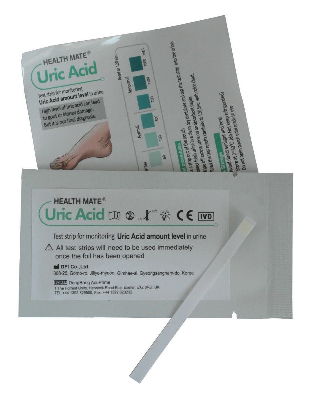 Gout Urine Test Strips - GP/Professional Uric Acid