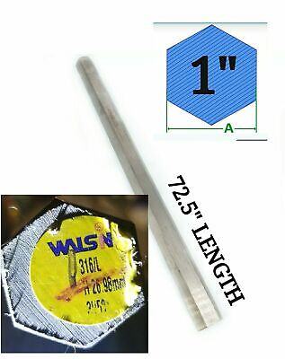 72.5 Long X 1 Wide 316 L Stainless Steel Hex Bar Stock Brand New Us Seller