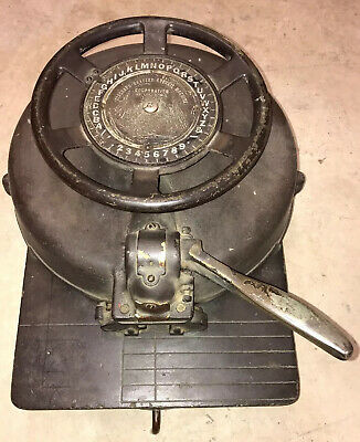 Vtg Diagraph Bradley Stencil Machine Letter Number Rotary Punch Cutter 12 Inch