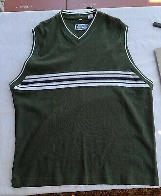 Point Zero Olive Sweater Vest Men's Large New.