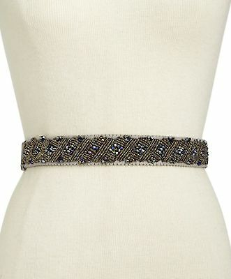 INC International Concepts I.N.C. Clustered Beaded Stretch Belt Size L/XL