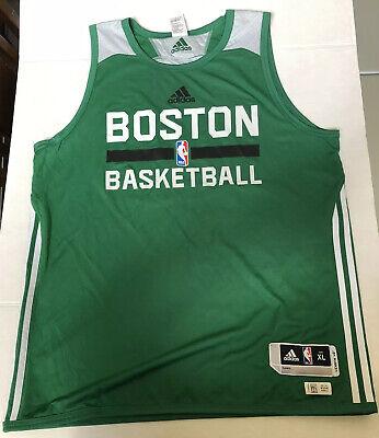 Boston Celtics Reversible Adidas NBA Practice Jersey Green and White Mens XL